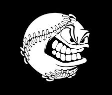 Baseball ball decal | smilling ball vinyl sticker | baseball car window decal