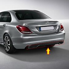 NEW GENUINE MERCEDES MB C CLASS W205 NIGHT PACKAGE GLOSS BLACK REAR DIFFUSER