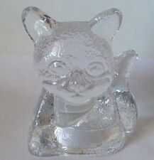 Partylite ~ Clear Glass ~ Cat/Kitten/Kitty ~ Tea Light Candle Holder