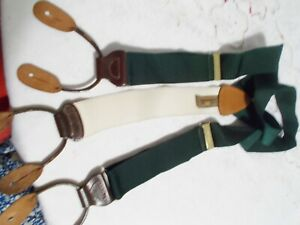 TRAFALGAR SUSPENDERS CREAM & GREEN