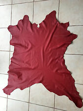 Red Leather Calf calfskin 8.9 sq. ft. for bookbinding or other crafts F17