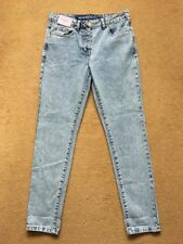 """NEXT Relaxed High Rise Women's Acid Wash Blue Jeans, Size UK8R, W30"""", L29"""", £26"""