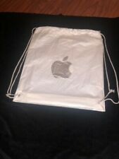 Apple Store Plastic Shopping Bags (2) * Apple Logo * Silver * String On Sides