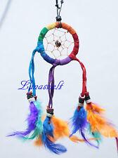 Indianer Dreamcatcher Kette Traumfänger Halskette Autohänger bunt Traum Kinder