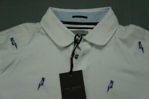 Ted Baker 'Scraffy' Parrot Embroidered Casual Polo Golf Shirt. Men's 6, NWT $119