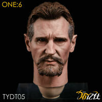 "1/6 Liam Neeson Ra's al Ghul Head Carving Model F 12"" Male Action Figure TYDT05"