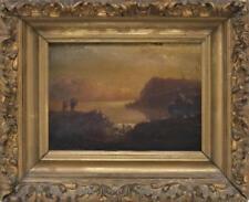 AMERICAN SCHOOL, Late 19th Century, Sunset mountain landscape., Oil o... Lot 541