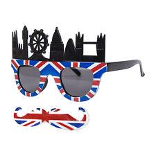 6a5fddf01f0 Novelty UK London Union Jack Fancy Dress Glasses   Moustache