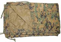 USMC Military REVERSIBLE FIELD TARP Tarpaulin MARPAT Coyote 90x80 GC