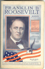 1933 Franklin D. Roosevelt March Full Orchestration Band 22 sheets Piano etc.