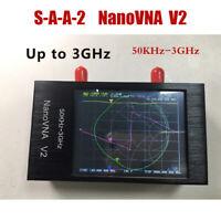 """2.8"""" 50KHz-3GHz S-A-A-2 NanoVNA V2 Vector Network Antenna Analyzer HF VHF UHF"""