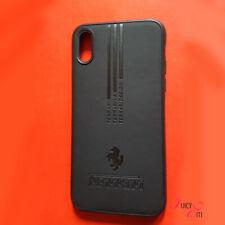 Ferrari iPhone X Case Cover Black Ultraframe + 9H Premium Tempered Glass Screen