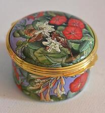 Halcyon Days English Enamels Marianne North Brazilian Wild Flowers Trinket Box