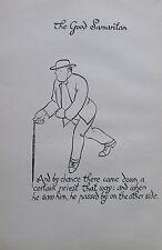 Thomas Derrick BARMHERZIGER SAMARITER 1931 Buchillustration 2 Drucke prints #11