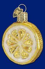 """""""Lemon Slice"""" (28001) Old World Christmas Glass Ornament"""