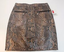 RARE! NOUCHKA Women's Genuine ITALIAN LEATHER Skirt Size 42 Made in Italy $ 450
