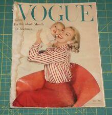 December Vogue 1956 Rare Vintage Vanity Fair Fashion Design Collection Magazine