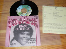 DIONNE WARWICK - TRACK OF THE CAT / GERMANY VINYL 7'' SINGLE 1976 & INFO-FACTS