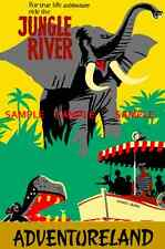 "Vintage Disneyland Jungle River Adventurel​and  1956   [ 8.5"" x 11"" ]  Poster"