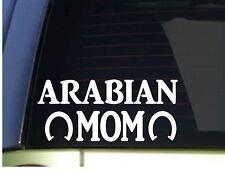 Arabian Mom sticker *H360* 8.5 inch wide vinyl horse training trailor book
