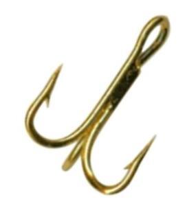 Package of 5 Size 16 Mustad Gold Treble Fishing Bait Hooks NEW