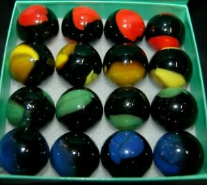 """16 MARBLE KING SHOOTER PATCH MARBLES 7/8"""" (+ or -)"""