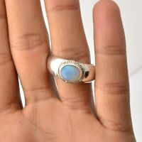 Ethiopian Opal Gemstone Handmade Jewelry 925 Solid Sterling Silver Ring Size 9