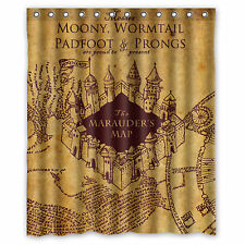 Harry Potter The Marauder's Map Fabric Durable Shower Curtain 60'' x 72''