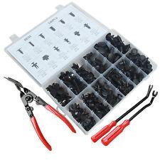 240pcs Car Retainer Clip Trim Push Pin Rivet Panel Moulding With Removal Plier