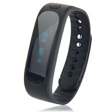 Bluetooth Smart Sport Sleep Monitor Bracelet E02 Watch for Android IOS Black