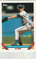 FREE SHIPPING-MINT-1993 Topps Chicago Cubs Baseball Card #101 Jim Bullinger