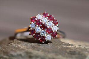 18ct White Gold Ruby & Diamond  - HJ095