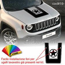 Adesivo cofano Jeep Renegade trailhawk + fori lavavetri sticker jeep bonnet #19