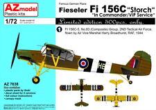 """AZ Model 1/72 Fieseler Fi-156C Storch """"in Commander/VIP Service"""" # 7638"""