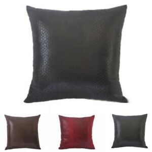 High Leather 45 * 45cm Cushion Hot Soft Vintage Case Sofa Cover Throw Room Faux