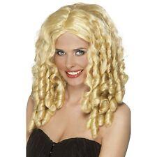 Womens Blonde Film Star Wig Long Spiral Curls Fancy Dress Beauty Model Style Fun