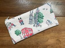 HANDMADE PENCIL MAKE UP GLASSES CASE MADE WITH CATH KIDSTON LONDON SPOTS FABRIC