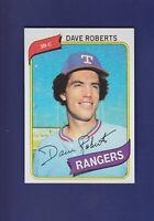 Dave Roberts 1980 TOPPS Baseball #93 (MINT) Texas Rangers