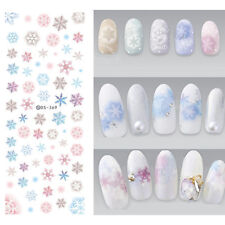 1 Sheet Nail Art Water Decal Snowflake Theme Transfer Sticker Decor Diy