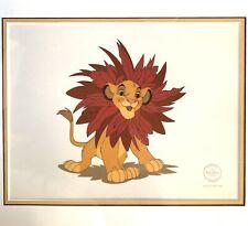 Disney Lion King Sericel LE 5000 Simba Mane Event Framed