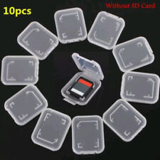 10pcs Transparent Standard SD SDHC Memory Card Case Holder Storage Box Portable