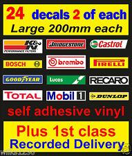 24 x motorsport boîte à outils atelier decals vw voiture van mini bus camion autocollant