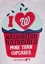 Washington Nationals Hockey Pink Polka Dot One Piece Girls 3-6 Months Cupcakes