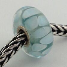 Authentic Trollbeads Light Blue Shadow Bead Charm 61407 New