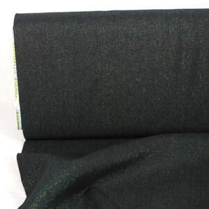 Metallic Stoff Baumwolle Leinen Essex Yarn Dyed Celstial schwarz Lurex Kaufman