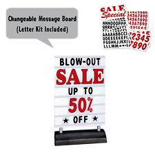 Springer Deluxe Message Board Sidewalk Sign, Changing Letter Outdoor Sign, White