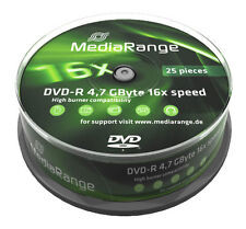 25 MediaRange DVD Rohlinge DVD-R 4,7 GB 16x fach