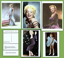 MARILYN MONROE - Set of  FIVE hand-tinted photo postcards. NEW, out of print