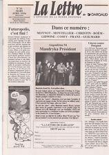 La lettre de Dargaud n°16 - Cosey, Franz...Futuropolis