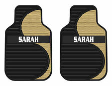 2PC NEW TAN SWIRL FACTORY PERSONALIZED CAR FLOOR MATS